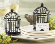 Wedding Favors - Kate Aspen Love Songs Birdcage Tea Light and Place Card Holder. Candle Wedding Favors to make your wedding day special.