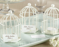 Wedding Favor Ideas - Kate Aspen Spring Song Birdcage Tea Light and Place Card Holder. Candle Wedding Favors to make your wedding day special.