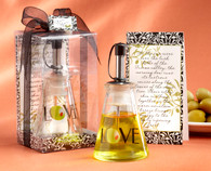 Unique Wedding Favors - Kate Aspen Olive You Glass LOVE Oil Bottle in Signature Tuscan Box. Other to make your wedding day special.