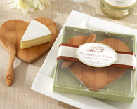 Wedding Favor Ideas - Kate Aspen Tastefully Yours Heart Shaped Bamboo Cheese Board. Other to make your wedding day special.