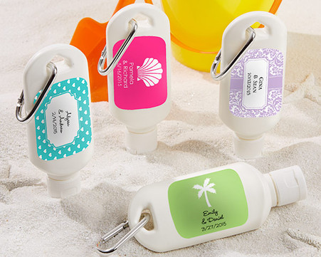 Personalized Wedding Favors - Kate Aspen Fun in the Sun Personalized Sunscreen Bottle. Other to make your wedding day special.