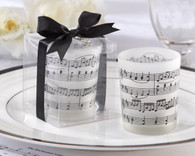 Wedding Favors - Kate Aspen Music of the Heart Frosted Glass Tealight Holder. Candle Wedding Favors to make your wedding day special.