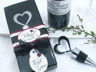 Wedding Favors - Artisano Designs Brilliant Heart Bottle Stopper in Designer Gift Box. Wine Bottle Stoppers to make your day special.