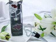 Wedding Favors - Artisano Designs Hearts Entwined Double Heart Bottle Stopper in Designer Gift Box. Wine Bottle Stoppers to make your day special.
