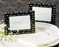 Wedding Favors - Artisano Designs Live, Love, Laugh??Mini Photo Frame / Place Card Holder in Black (Pack of 4). Place Card Holders to make your day special.
