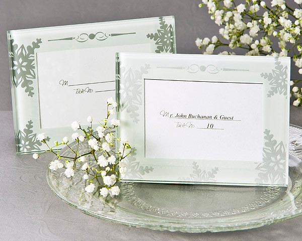 Wedding Favors Shimmering Crystals Mini Photo Frame Place Card