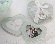 Wedding Favours - Artisano Designs Heartfelt Memories Frosted Heart Photo Coasters (Set of 2). Coaster Favors to make your day special.