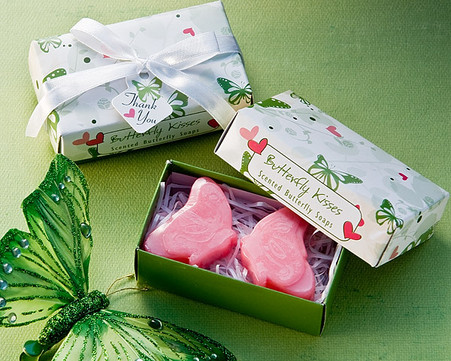 Cheap Wedding Favors - Artisano Designs Butterfly Kisses Scented Soaps. Scented Soaps to make your day special.