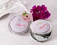 Bridal Shower Favors - Artisano Designs Sassy Stiletto High Heel Compact Mirror Favor. Mirror to make your day special.