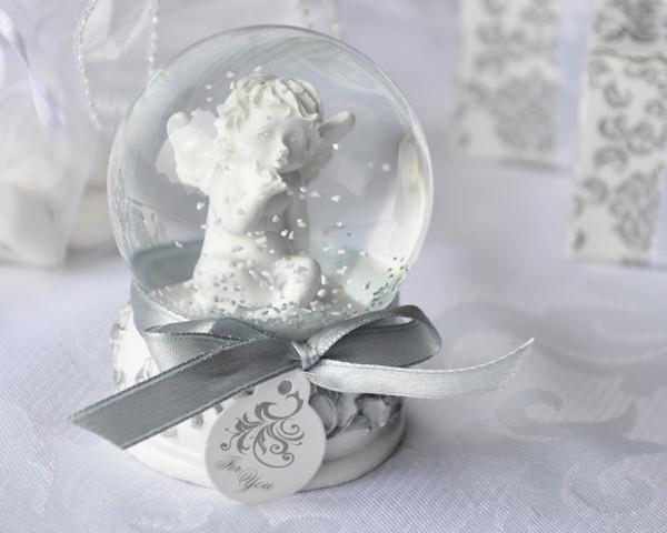 Wedding Gifts Angel Kisses Cherub Snow Globe Favor