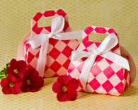 Wedding Favor Boxes - Artisano Designs Perfectly Plaid Pink Purse Favor Box (24 Pack). Wedding Favor Boxes to make your day special.