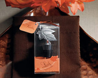 Wedding Favors Canada - Weddingstar Leaf Wine Stopper in Gift Packaging. Wine Bottle Stoppers to make your day special.
