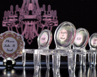 Wedding Favors - Weddingstar Miniature Clear Acrylic Phantom Chairs. Place Card Holders to make your day special.