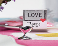 Wedding Favors - Weddingstar Swish Heart Place Card Holders. Place Card Holders to make your day special.