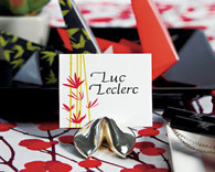 Wedding Favors - Weddingstar Silver Fortune Cookie Place Card Holders. Place Card Holders to make your day special.