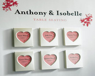 Wedding Favours - Weddingstar Mini Magnet Back Aluminum Heart Photo Frames. Place Card Holders to make your day special.