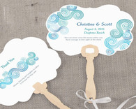 Personalized Wedding Favors - Weddingstar Sea Breeze Personalized Hand Fan. Hand Fans to make your guests cool and in style.