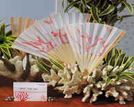 Wedding Favors - Weddingstar Beach Fan with Delightful Underwater Seascape. Hand Fans to make your guests cool and in style.