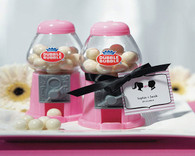 Wedding Party Favors - Weddingstar Mini Classic Pink Gumball Dispenser. Gumball Dispensers to add the perfect finishing touch to your wedding.