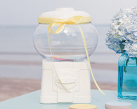 Wedding Party Favors - Weddingstar Novelty Gumball Machine Canister White. Gumball Dispensers to add the perfect finishing touch to your wedding.
