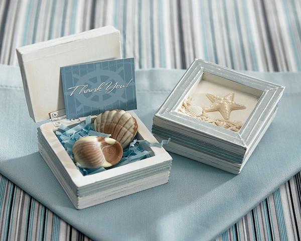 Wedding Favor Boxes Beach Theme Wooden Trinket Boxes