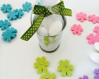 Personalized Wedding Favors - Miniature Pails Silver