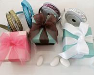 Wedding Favor Boxes - 2 Piece Square Favor Boxes (Colored)