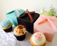 Wedding Favor Boxes - Cupcake Boxes with Scallop Top