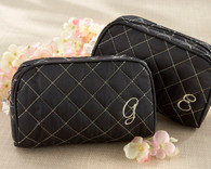 """Kate Aspen - """"Cosmetic Couture"""" Quilted, Monogrammed Make-Up Bag"""
