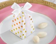"""Kate Aspen - """"Confetti"""" Gold Dot Favor Box (Set of 24)"""