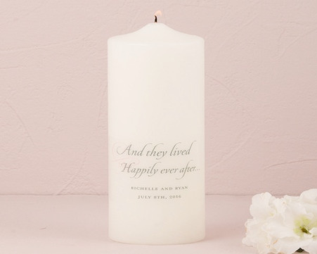 Wedding Decorations - Weddingstar Happily Ever After Personalized Unity Candle