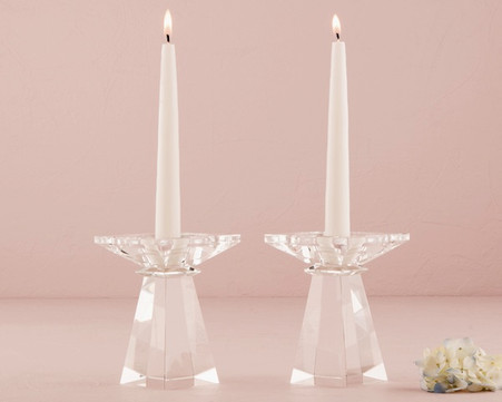 Wedding Ceremony - Weddingstar Dual Purpose Crystal Candle Holder Low