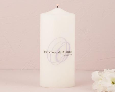 Wedding Ceremony - Weddingstar Modern Monogram Personalized Unity Candle