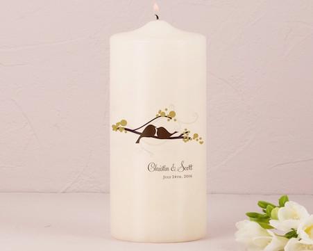 Wedding Decoration - Weddingstar Love Bird Personalized Pillar Candles