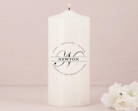 Wedding Decoration - Weddingstar Family Circle Monogram Personalized Unity Candle