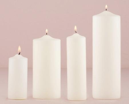 Wedding Decoration Ideas - Weddingstar Round Pillar Candles