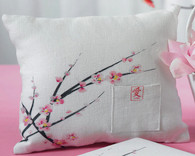 Wedding Decorations - Weddingstar Cherry Blossom Square Ring Pillow