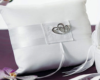 Wedding Ceremony - Weddingstar Classic Double Heart Square Ring Pillow