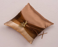 Wedding Decoration Ideas - Weddingstar Bronze Elegance Square Ring Pillow