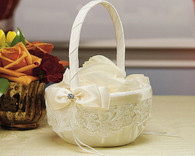 Wedding Decorations - Weddingstar Beverly Clark French Lace Collection Flower Girl Basket