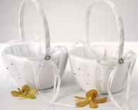 Wedding Ceremony - Weddingstar Scattered Pearls & Crystals Flower Girl Basket