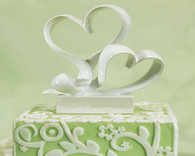 "Wedding Cake Toppers - Weddingstar ""Love Link"" Stylized Heart Cake Topper"