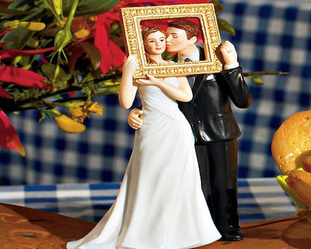 """Wedding Cake Toppers - Weddingstar """"Picture Perfect"""" Couple Figurine Light Skin Tone"""
