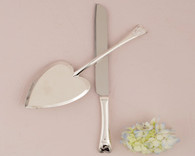 Wedding Decorations - Weddingstar Heart Silver Plated Cake Serving Set