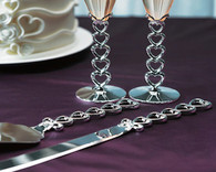 Wedding Ideas - Weddingstar Silver Plated Stacked Hearts Cake Serving Set