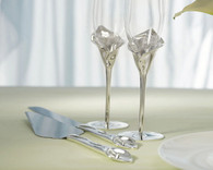 Wedding Reception - Weddingstar Calla Lily Cake Serving Set