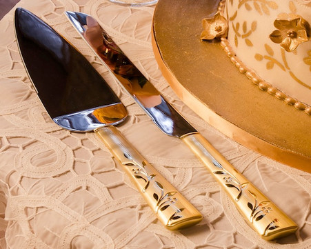 Wedding Reception - Weddingstar Venice Gold Serving Set