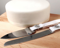 Wedding Reception - Weddingstar Classic Double Heart Cake Serving Set