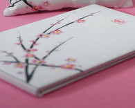 Wedding Decorations - Weddingstar Cherry Blossom Traditional Guest Book