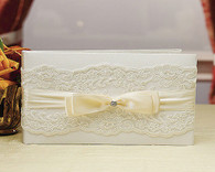 Wedding Decorations - Weddingstar Beverly Clark French Lace Collection Guest Book
